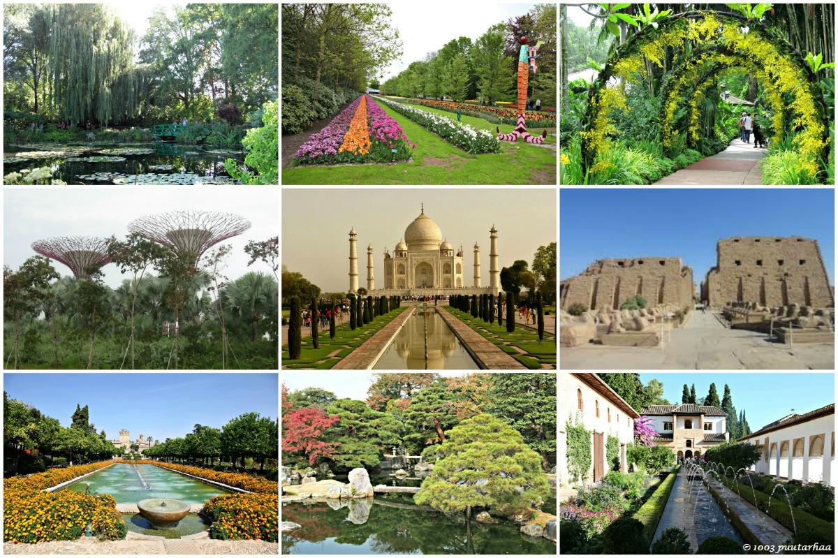 maailman kauneimmat puutarhat