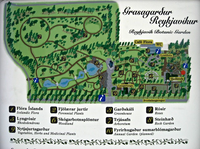 Kasvitieteellisen puutarhan kartta