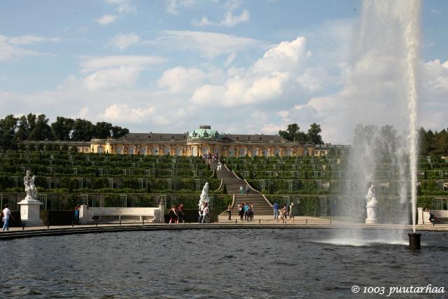 Sans soucin palatsin puutarha Berliinissä